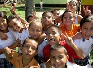 Alumnos de la escuela los Alamos