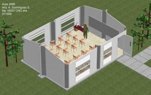 Aula prefabricada para 30 educandos